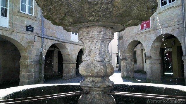 Feunte de cuatro caños en Lugo