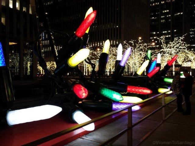foto de luces de navidad