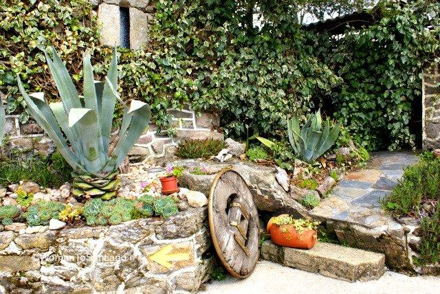 foto de jardin y flecha