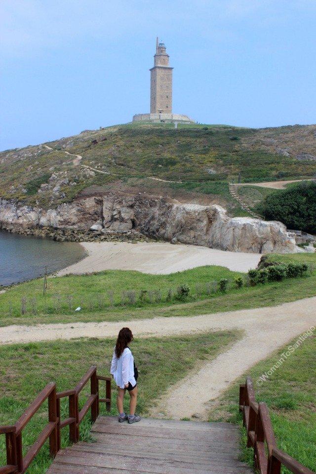 playa-las-lapas-torre-de-hercules-camino-de-santiago-ingles-womantosantiago