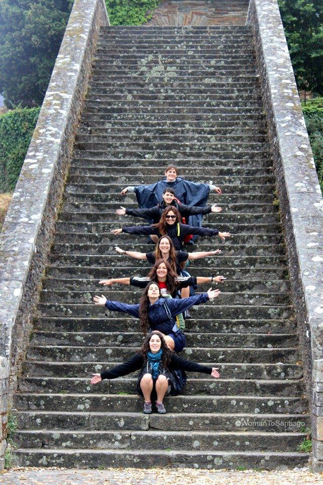 foto de escaleras de portomarin