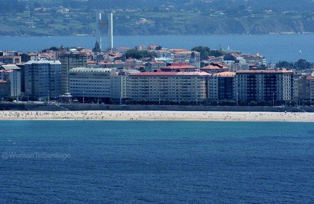 playa-riazor-camino-de-santiago-ingles-monte-de-san-pedro