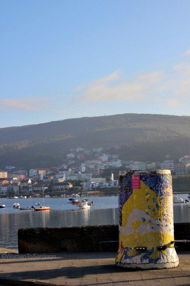 foto del puerto de corcubion