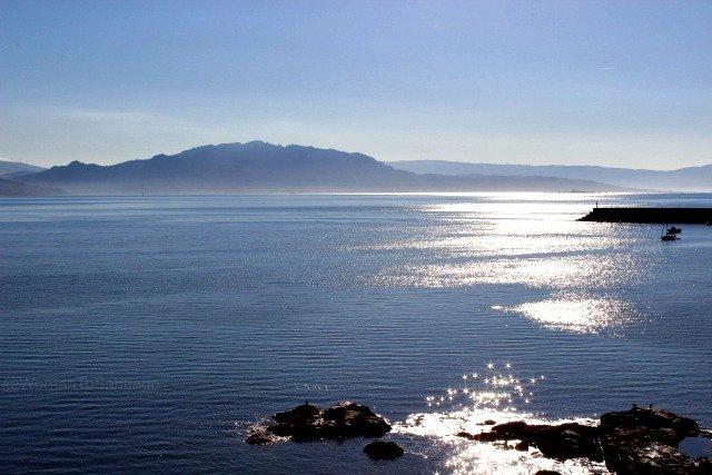 foto oceano atlantico en fisterra