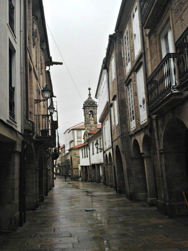foto de rua nova en santiago de compostela