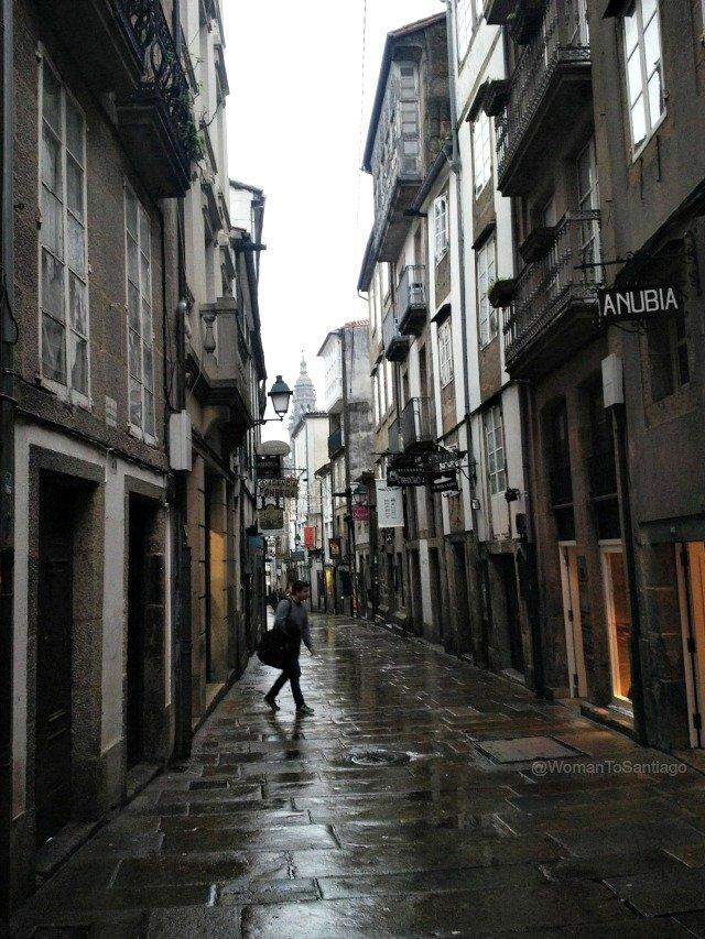 foto de calles de santiago de compostela