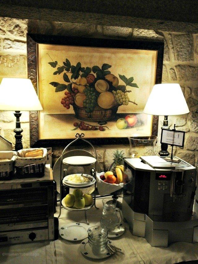 foto de la lareira del desayuno