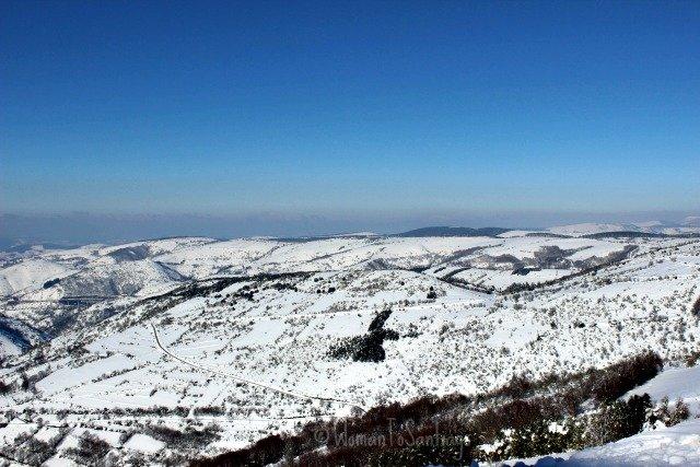 foto de la nieve en cebreiro