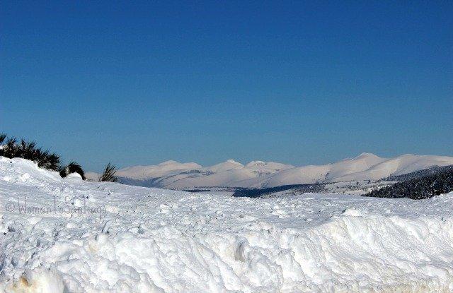 foto del horizonte y la nieve
