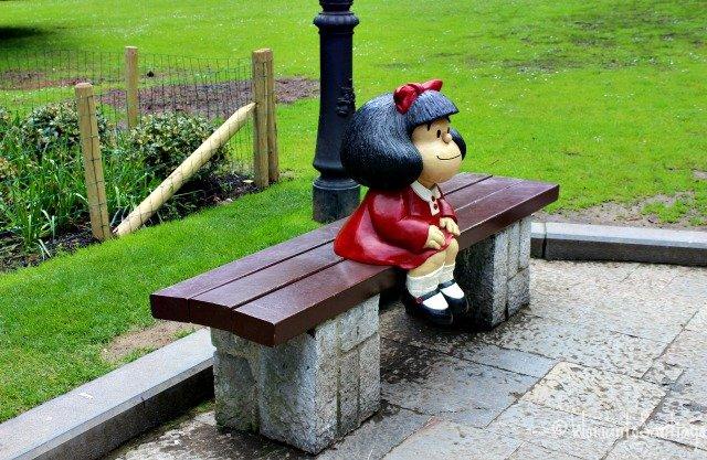 foto de mafalda en parque san francisco