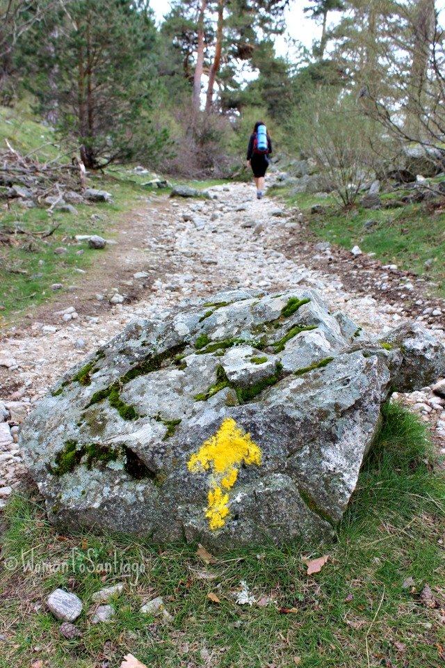 foto flecha amarilla en fuenfria
