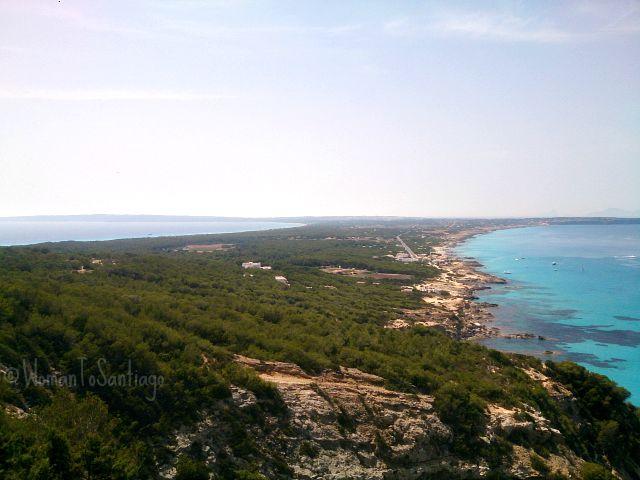 foto de la vista de la isla