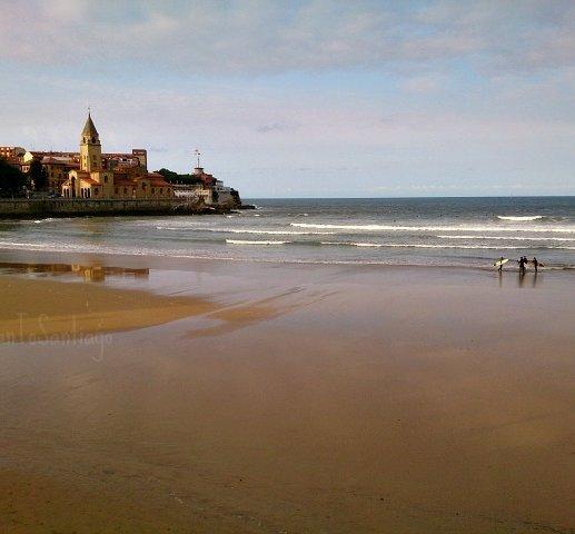 foto de la playa de san lorenzo
