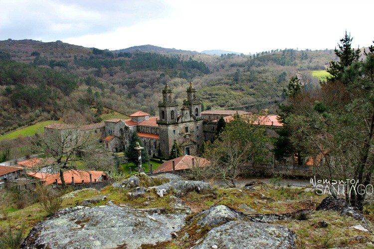 foto vistas del monasterio de oseira