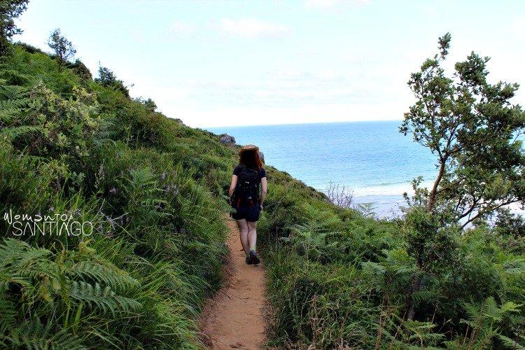 foto del camino por la costa