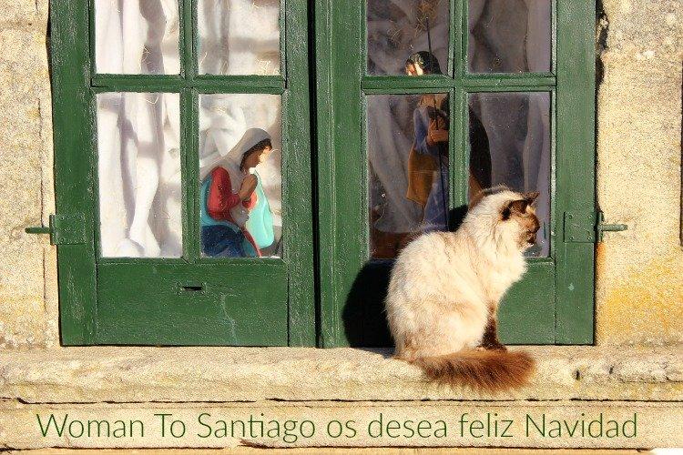 foto de navidad en el camino portugues