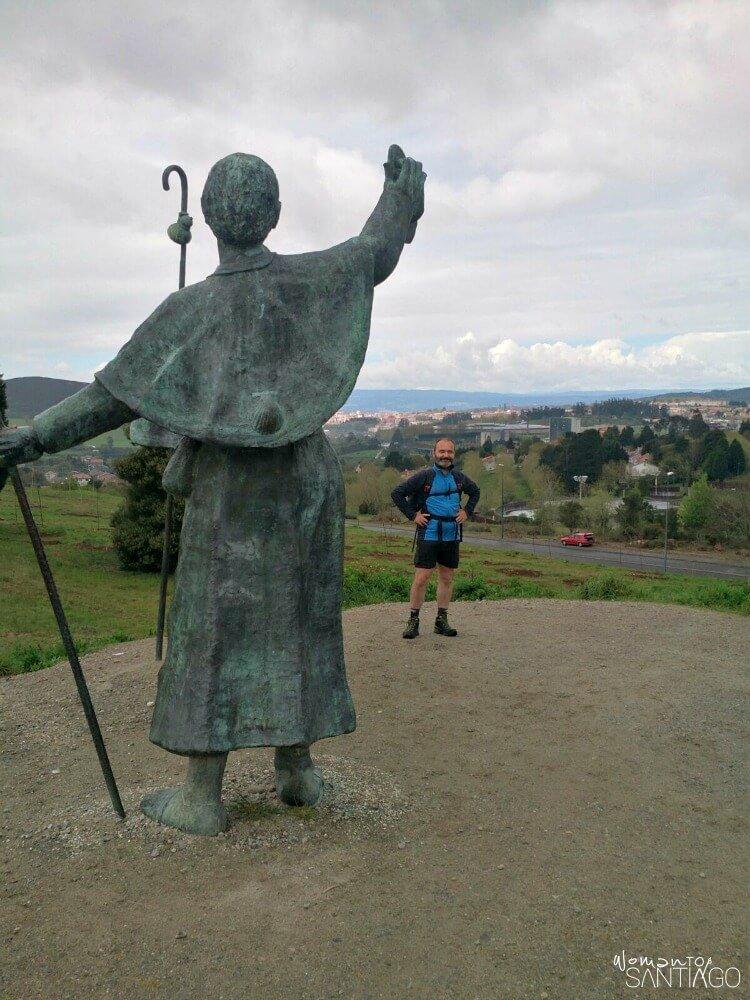 foto de peregrinos en monte do gozo