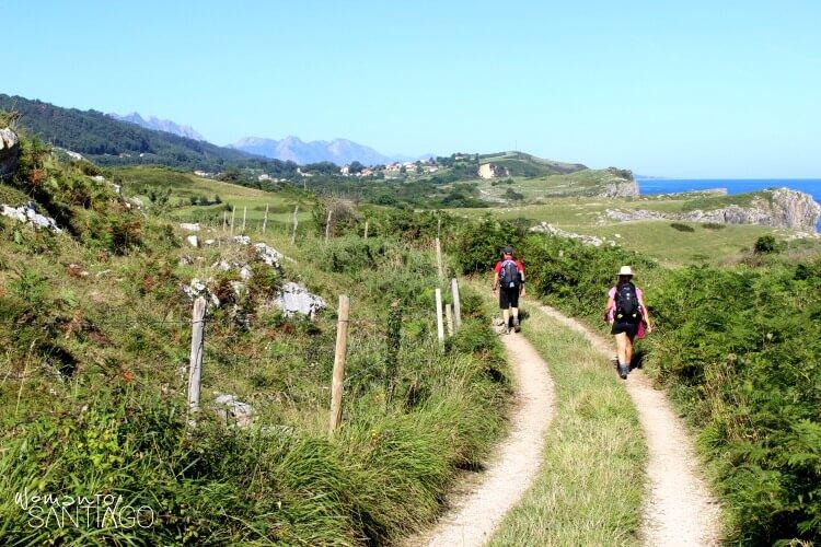 peregrinos por el sendero del camino de santiago