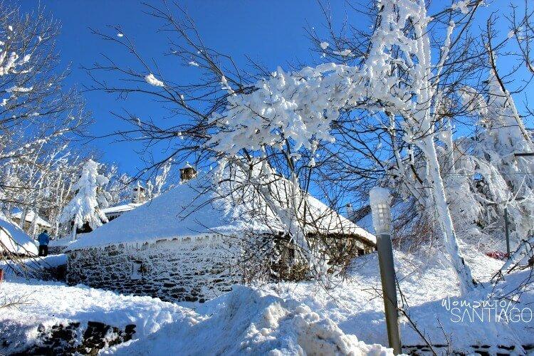 foto del Cebreiro nevado