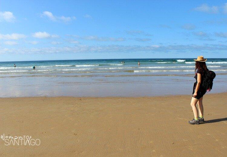 foto de la playa de Berria