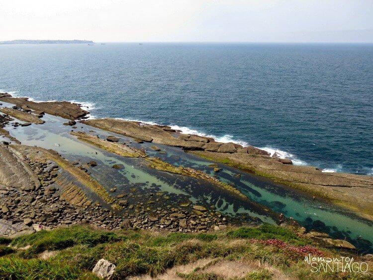 vista aérea del mar de las pozas de lagre