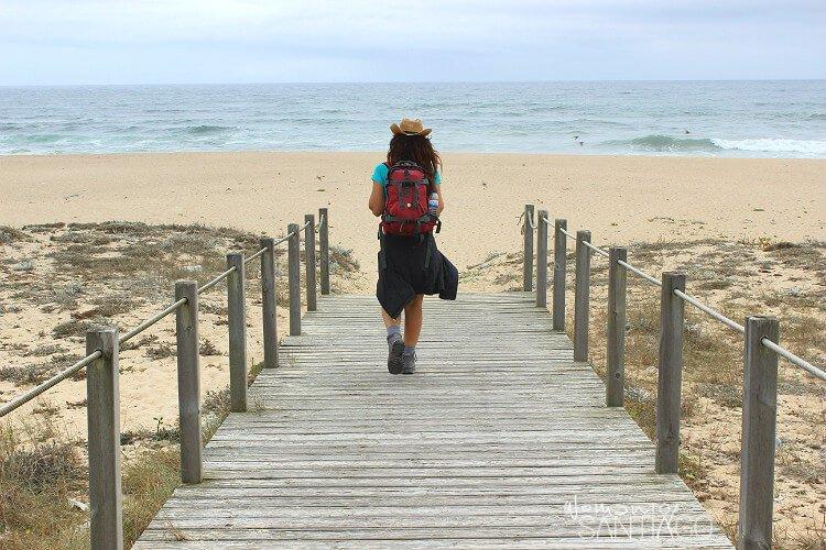 noelia en la playa
