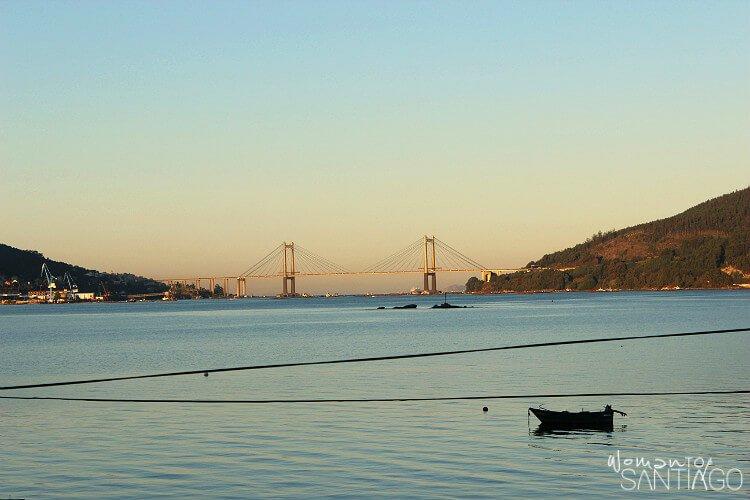 paisaje precioso de un atardecer desde Vigo