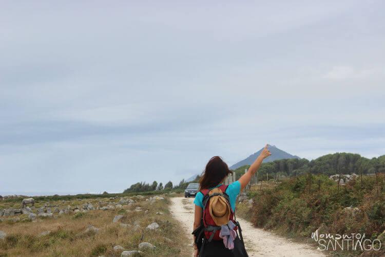 peregrina caminando