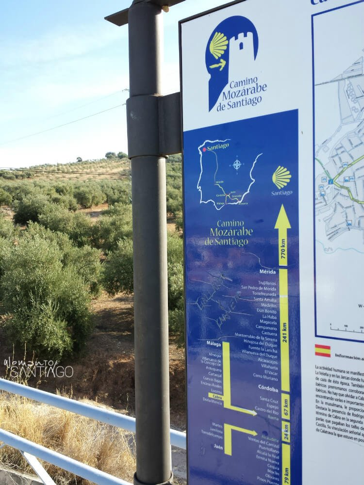 cartel del camino mozárabe