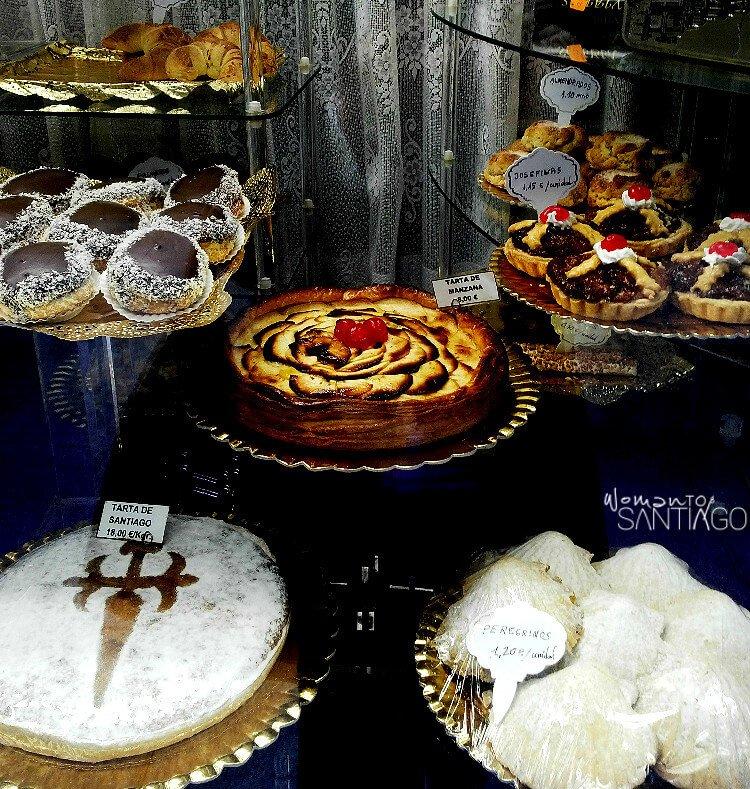 Tarta de Santiago y dulces peregrinos