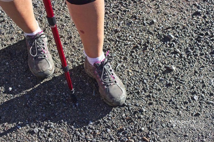zapatillas de una peregrina
