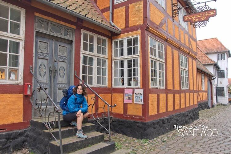 Descanso en una aldea de la campiña danesa