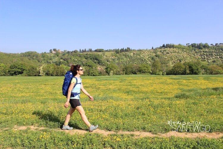 Noelia haciendo el Camino de Santiago para principiantes