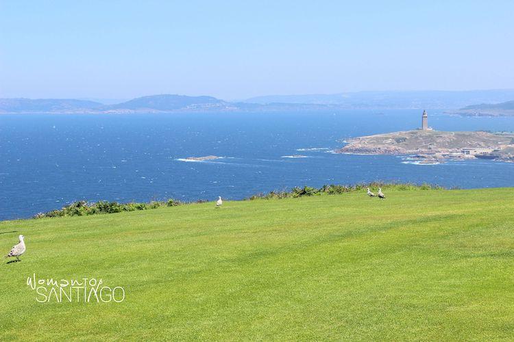 Entrada al Camino Inglés por la ría de A Coruña