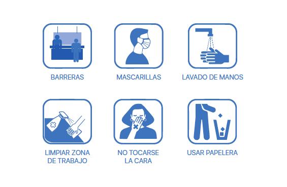 Infografía con las medidas anti COVID-19 en el Camino de Santiago