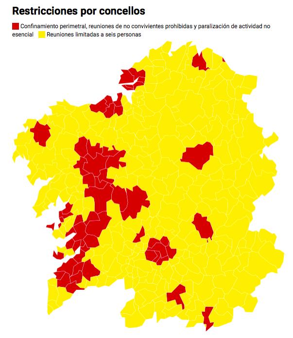 Restricciones por concellos