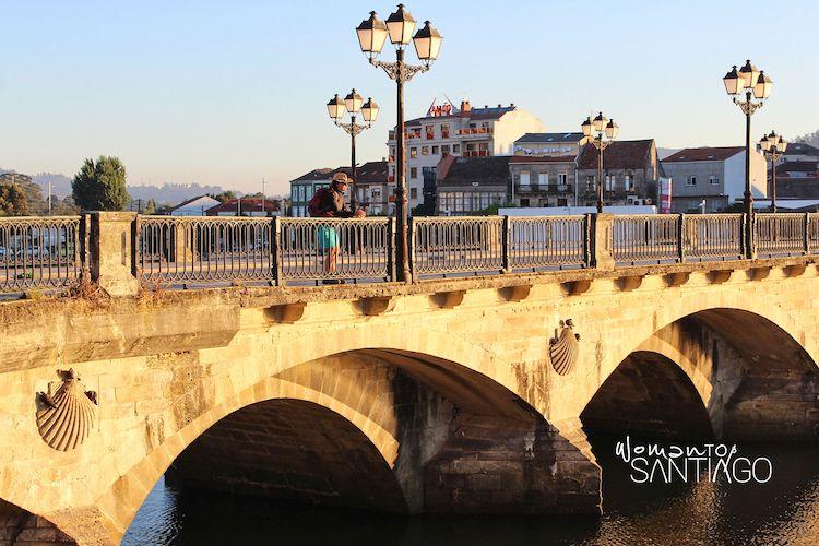 Puente de O Burgo en el Camino portugués por Pontevedra