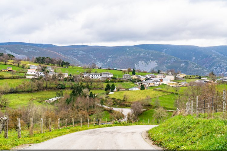 Camino de Santiafo en Asturias por Berducedo