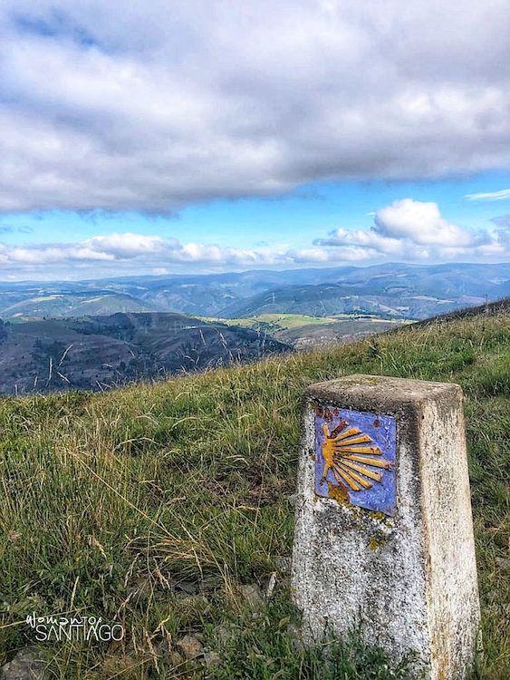 Mojón del Camino de Santiago